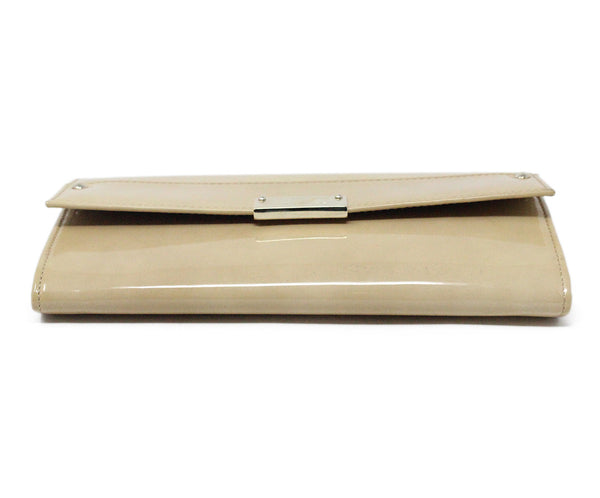 Jimmy Choo Neutral Beige Patent Leather Clutch 5