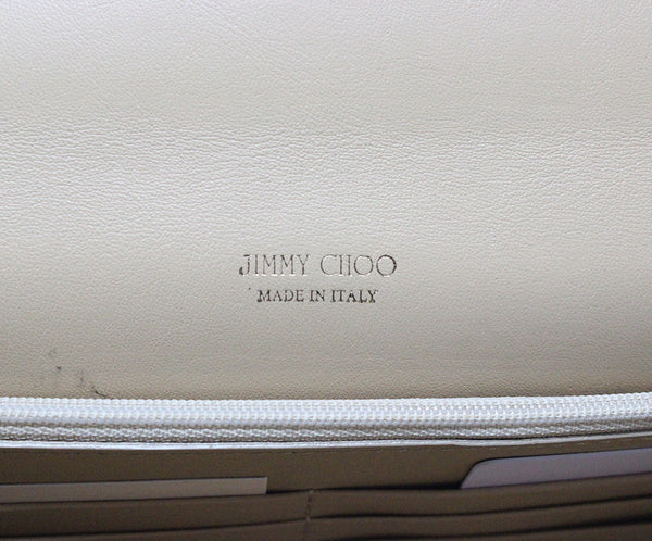 Jimmy Choo Neutral Beige Patent Leather Clutch 7