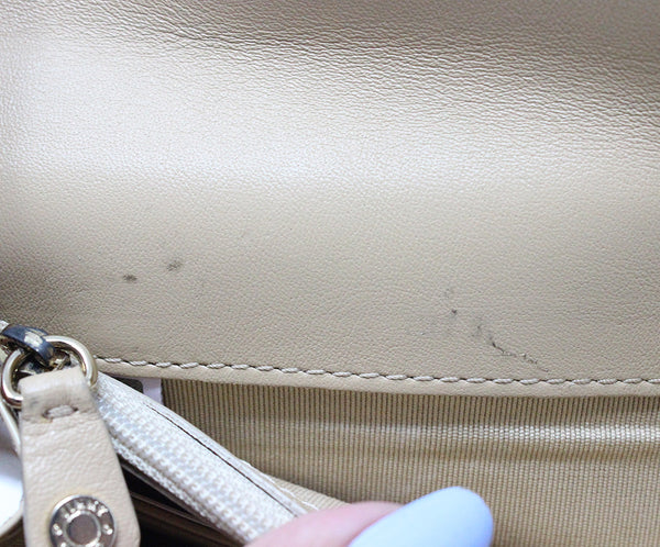 Jimmy Choo Neutral Beige Patent Leather Clutch 8