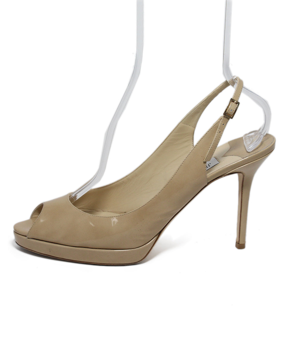 Jimmy Choo Neutral Patent Leather Heels 2