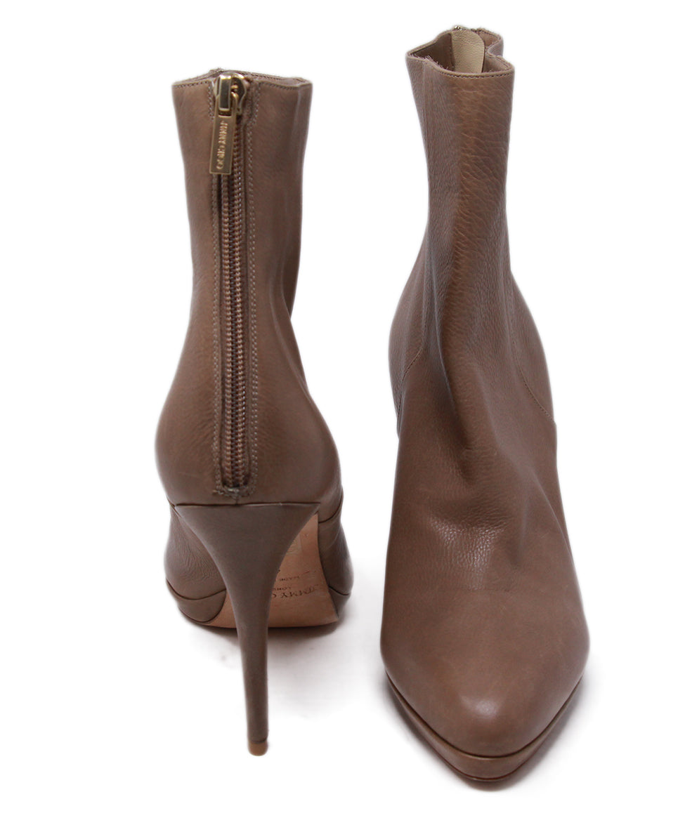 Jimmy Choo Neutral Tan Booties 3