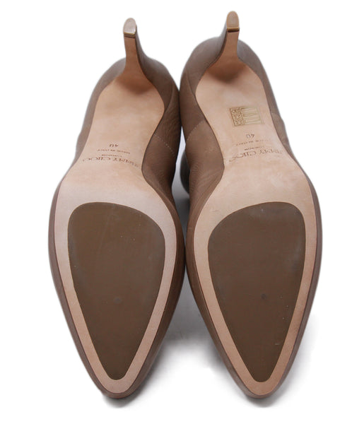 Jimmy Choo Neutral Tan Booties 5