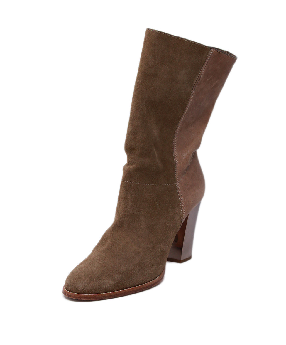 Jimmy Choo Neutral Tan Suede Booties 1