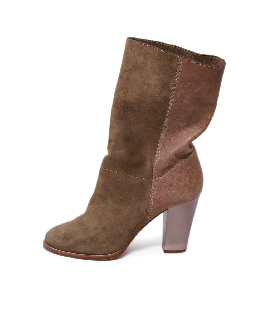 Jimmy Choo Neutral Tan Suede Booties 2