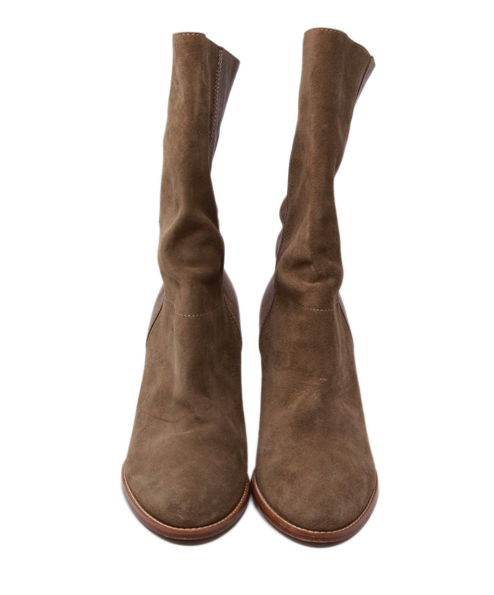 Jimmy Choo Neutral Tan Suede Booties 4