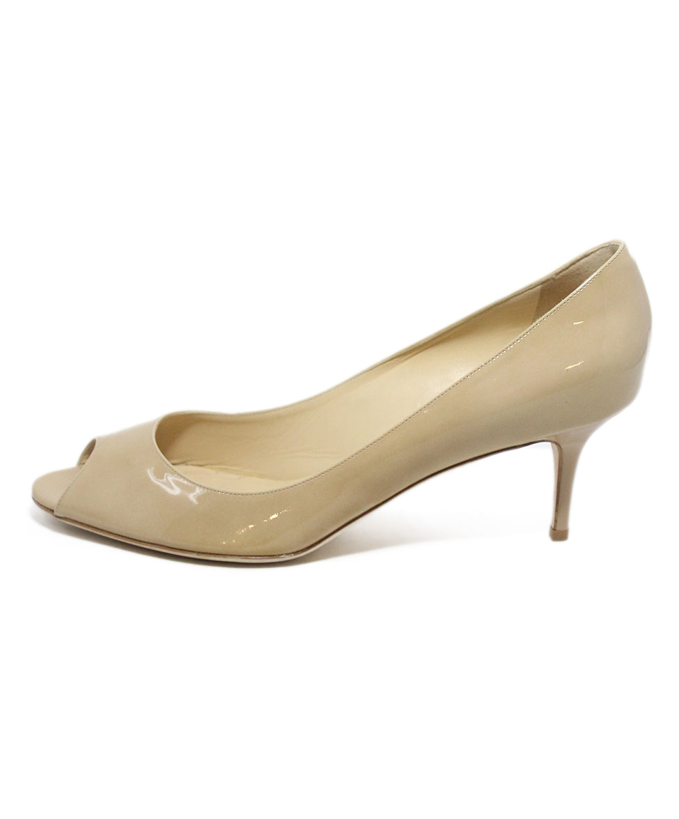 Jimmy Choo Nude patent leather peep toe shoes 2