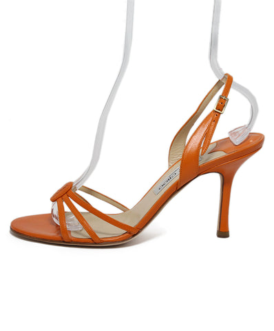 Jimmy Choo Orange Leather Sandals 1
