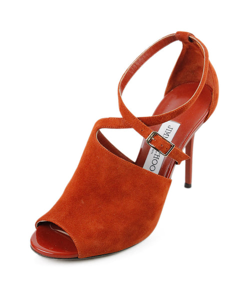 Jimmy Choo Orange Suede Shoes SZ 7.5