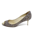 Jimmy Choo Gold Glitter Pink Shoes 2