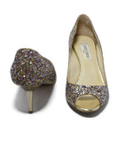 Jimmy Choo Gold Glitter Pink Shoes 3