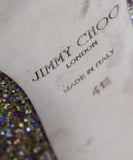 Jimmy Choo Gold Glitter Pink Shoes 6