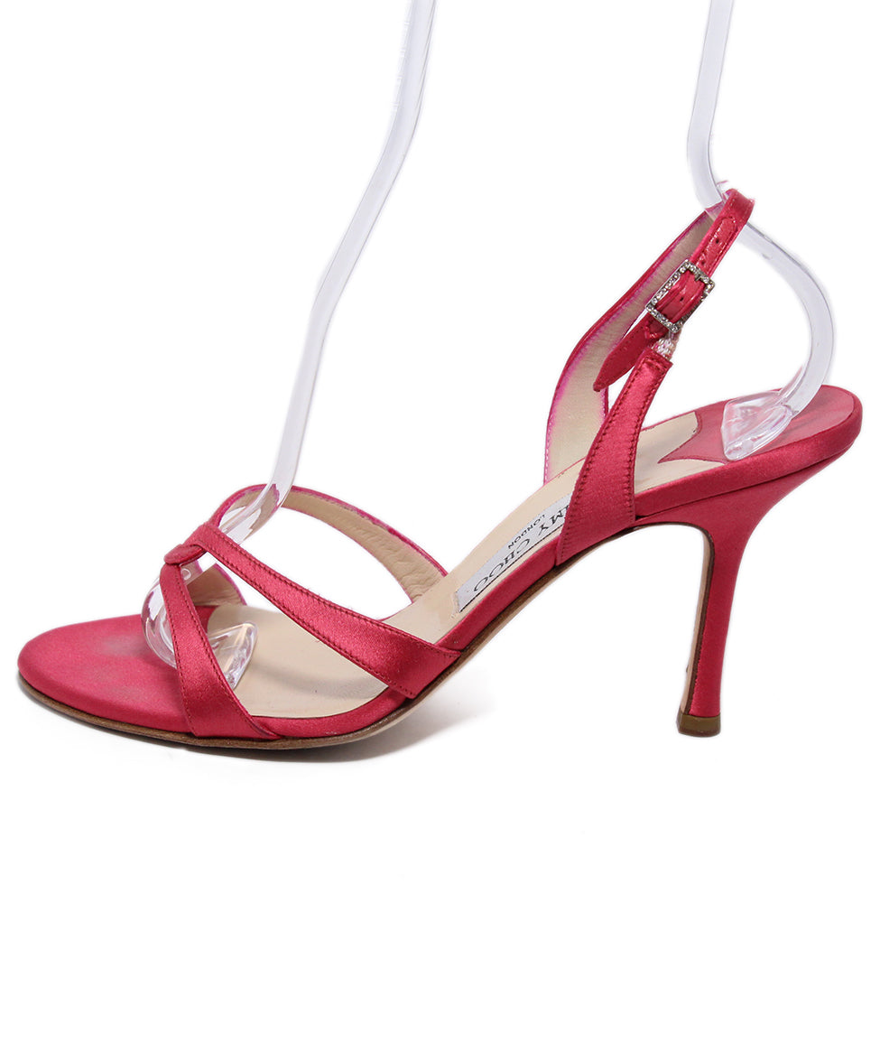Jimmy Choo Pink Satin Heels 2