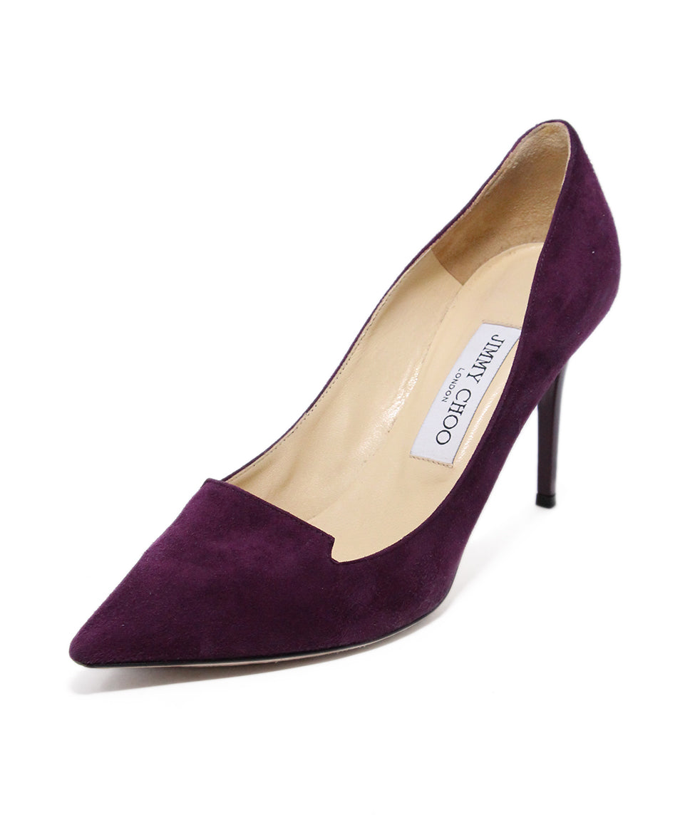 Jimmy Choo Purple Suede Heels 1