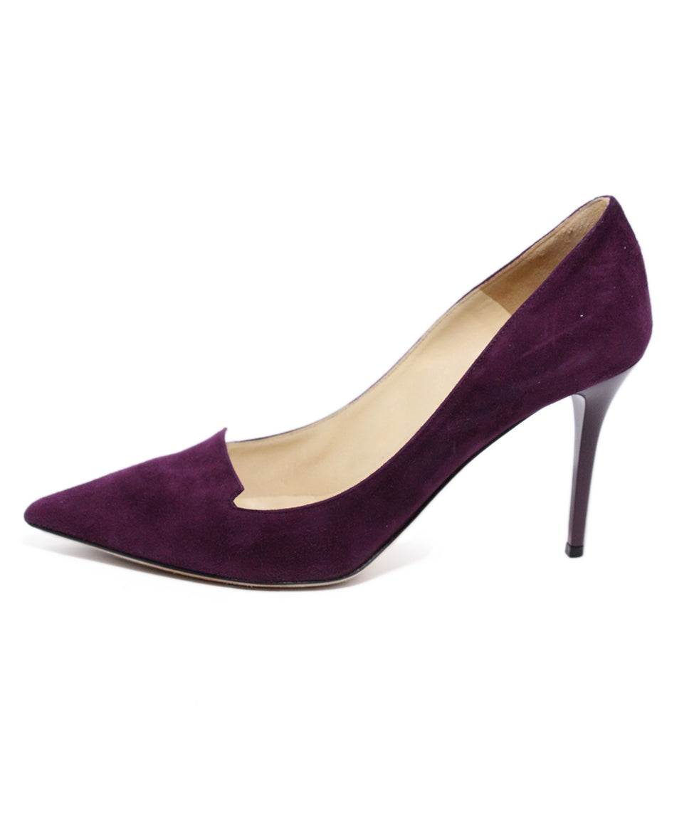 Jimmy Choo Purple Suede Heels 2