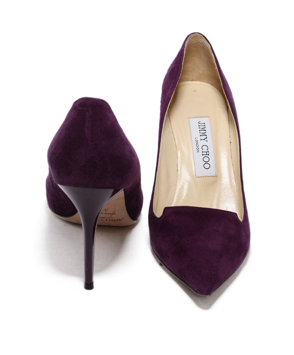Jimmy Choo Purple Suede Heels 3