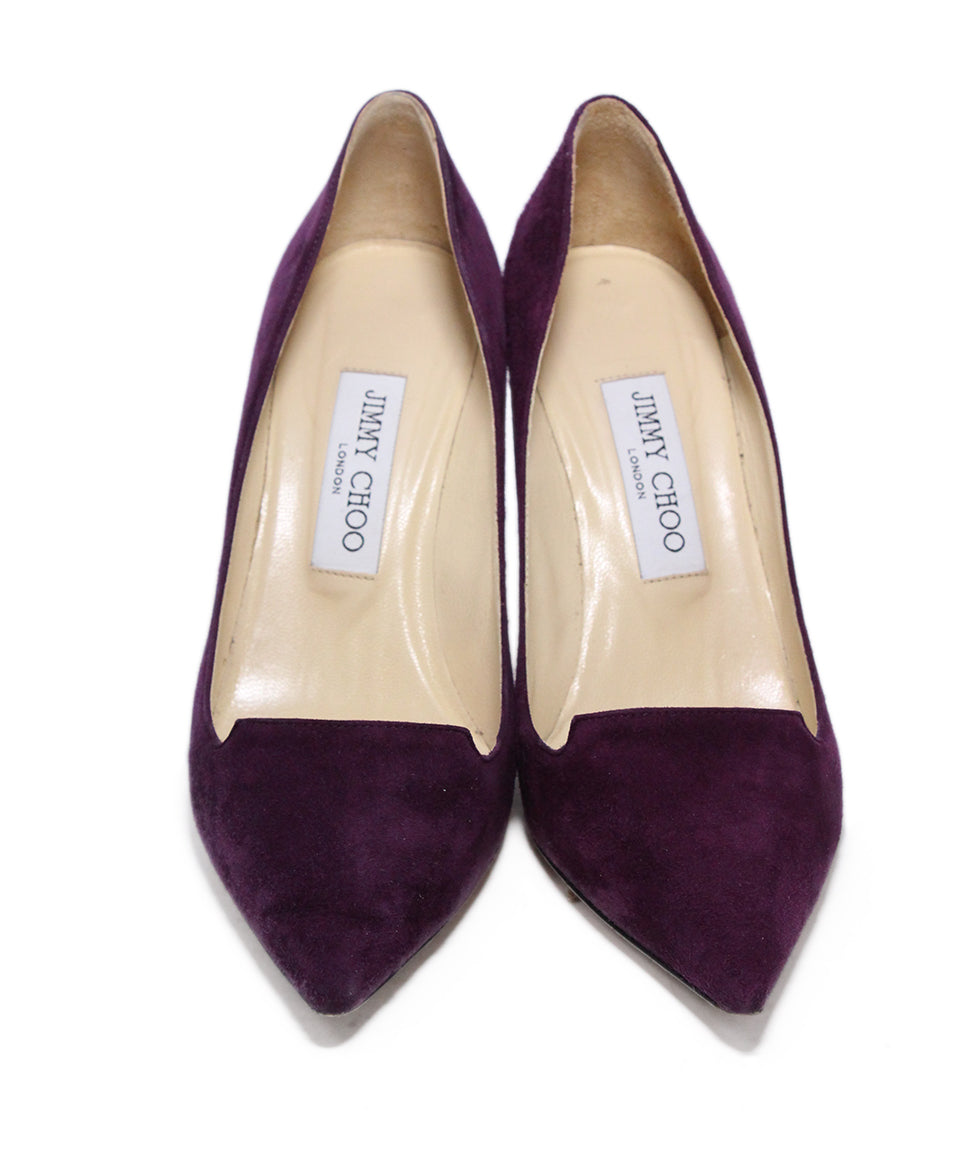 Jimmy Choo Purple Suede Heels 4