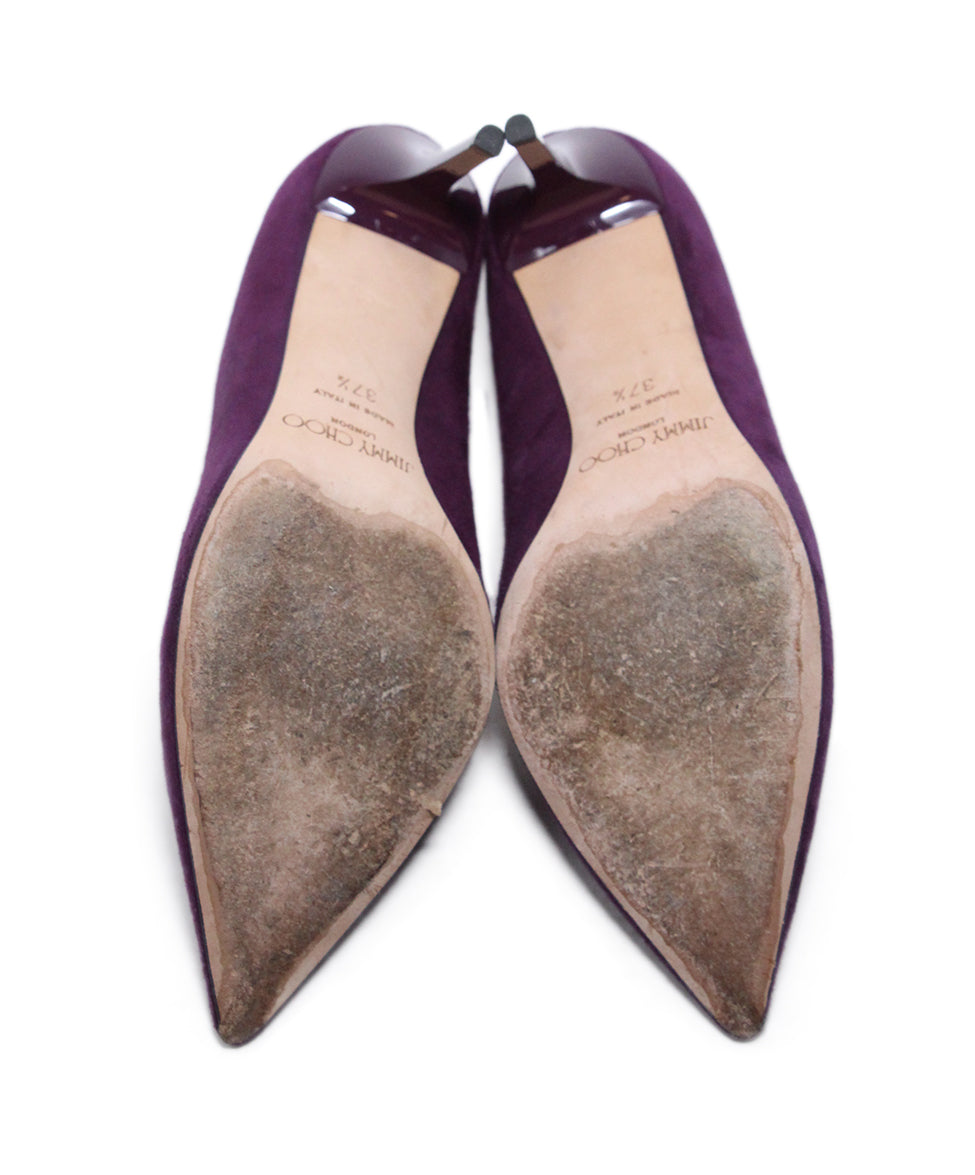 Jimmy Choo Purple Suede Heels 5