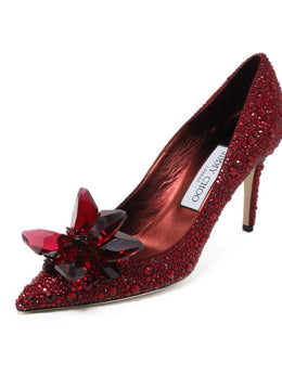 Jimmy Choo Red Swarovski Crystal Shoes