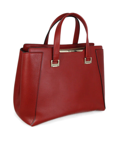 Jimmy Choo Red Leather Tote 2