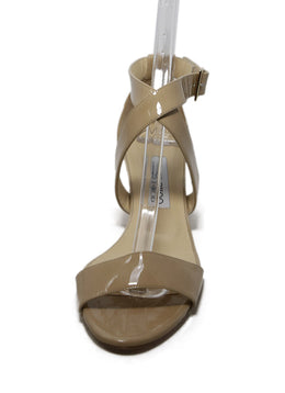 Jimmy Choo Beige Patent Leather Wedges 1