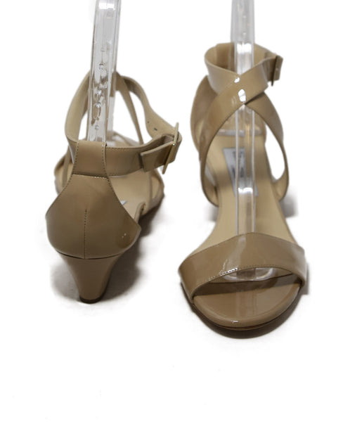Jimmy Choo Beige Patent Leather Wedges 3
