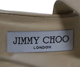 Jimmy Choo Beige Patent Leather Wedges 7