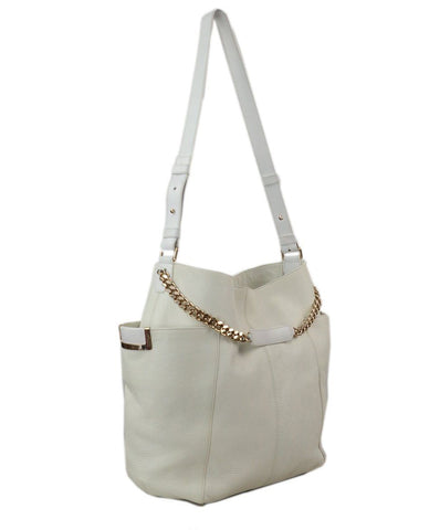 Jimmy Choo White Leather w gold hardware 1