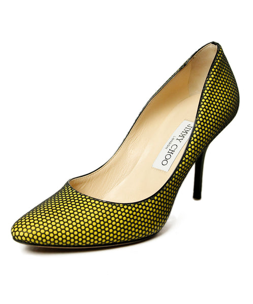 Jimmy Choo Yellow Black Heels 1