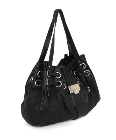 Jimmy Choo black leather bag 1