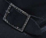 Jimmy Choo Black Leather Rhinestone Trim Buckle Detail Booties 8