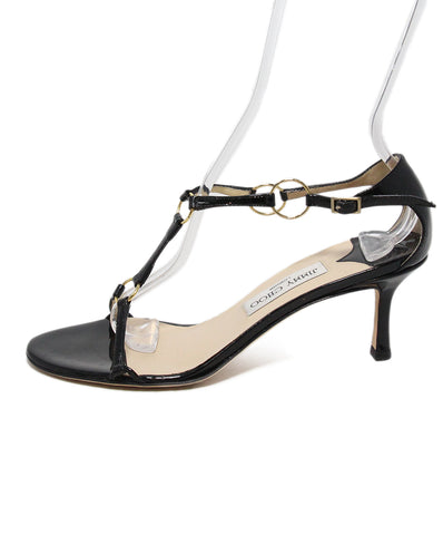 Jimmy Choo black leather sandals 1