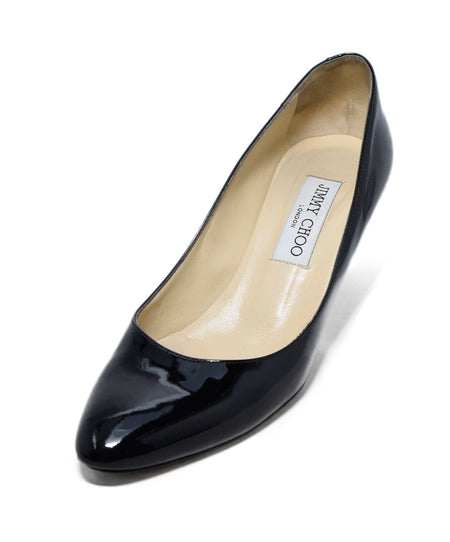 Chloe Black Lurex Gold Flats Sz 37