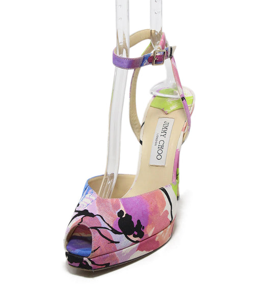 Jimmy Choo blue lilac black silk heels 1