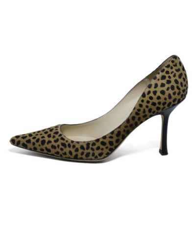 Jimmy Choo Brown Animal Print Pony Heels 1