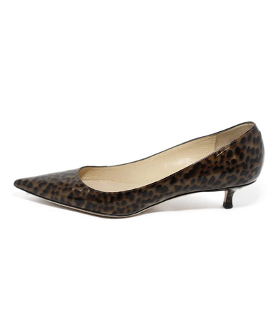Jimmy Choo brown black print leather shoes 1