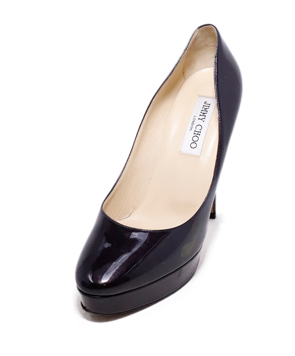 Jimmy Choo Brown Patent Leather Platform Heels 1