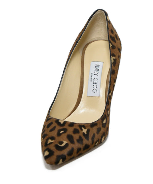 Jimmy Choo Brown Tan Animal Print Pony Heels 1