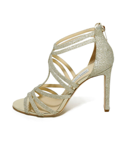 Jimmy Choo Sandals US 10 Gold Glitter Shoes 1