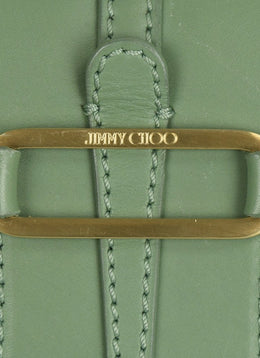 "Jimmy Choo Mint Green Leather Handbag ""As Is"" 