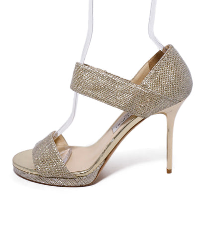 Jimmy Choo Metallic Gold Glitter Lurex Heels 1