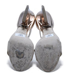 Jimmy Choo Metallic Rose Gold Leather Sandals Heels, Sz. 37 | Jimmy Choo