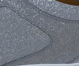 Jimmy Choo Metallic Silver Glitter Sneakers 7