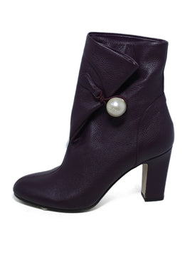 Jimmy Choo Purple Plum Leather Pearl Button Booties 2