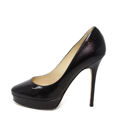 Jimmy Choo Plum Patent Leather Platform Heels 1
