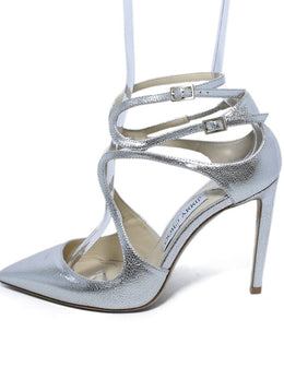 Jimmy Choo Silver Leather Shoes Heels 2