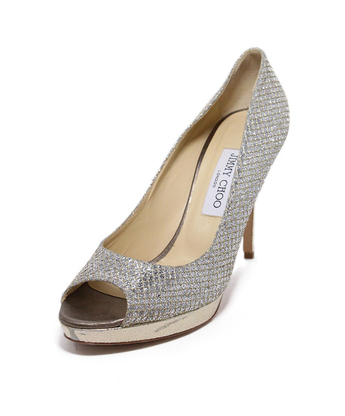 Jimmy choo Metallic silver heels 1