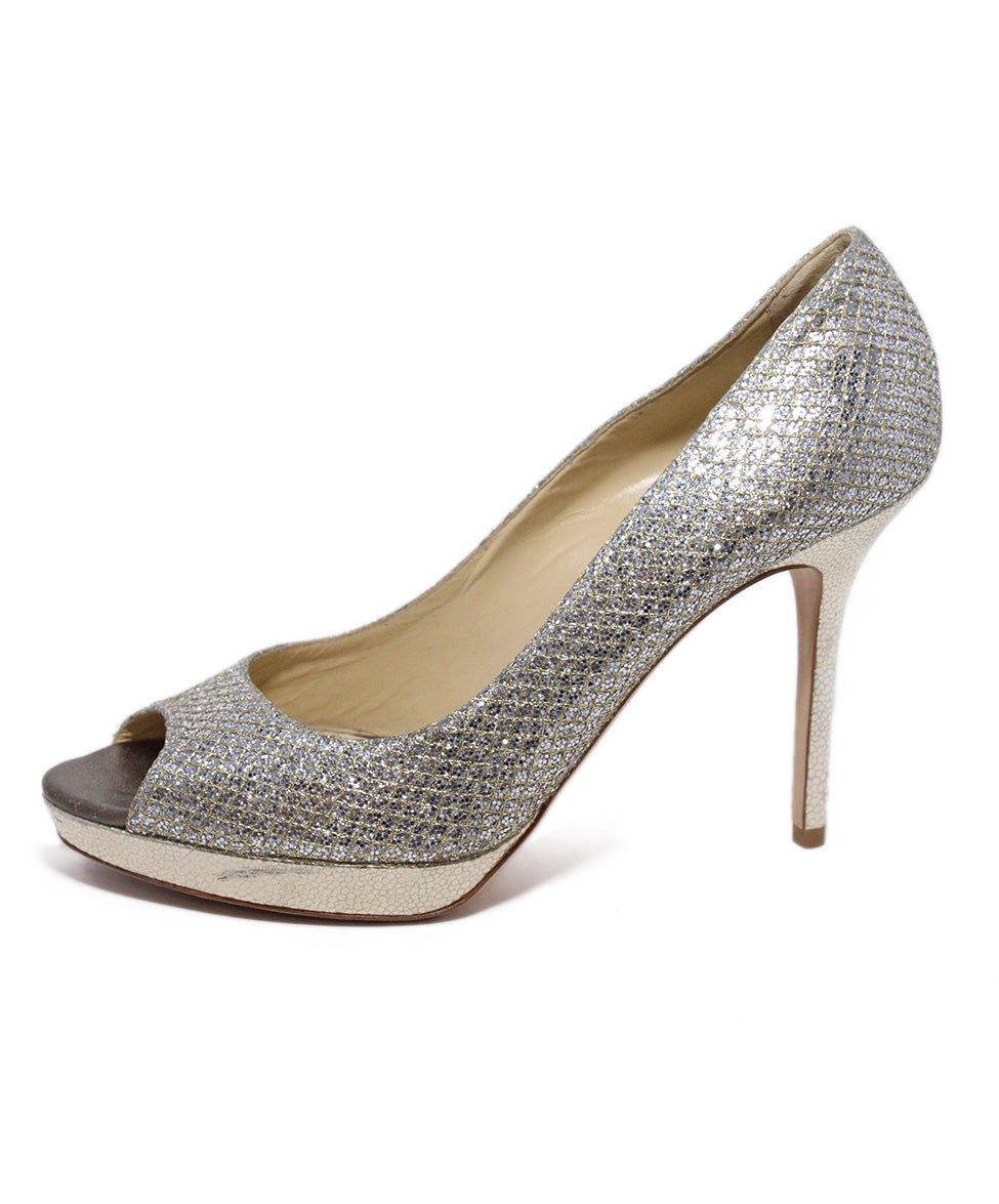 Jimmy choo Metallic silver heels 2