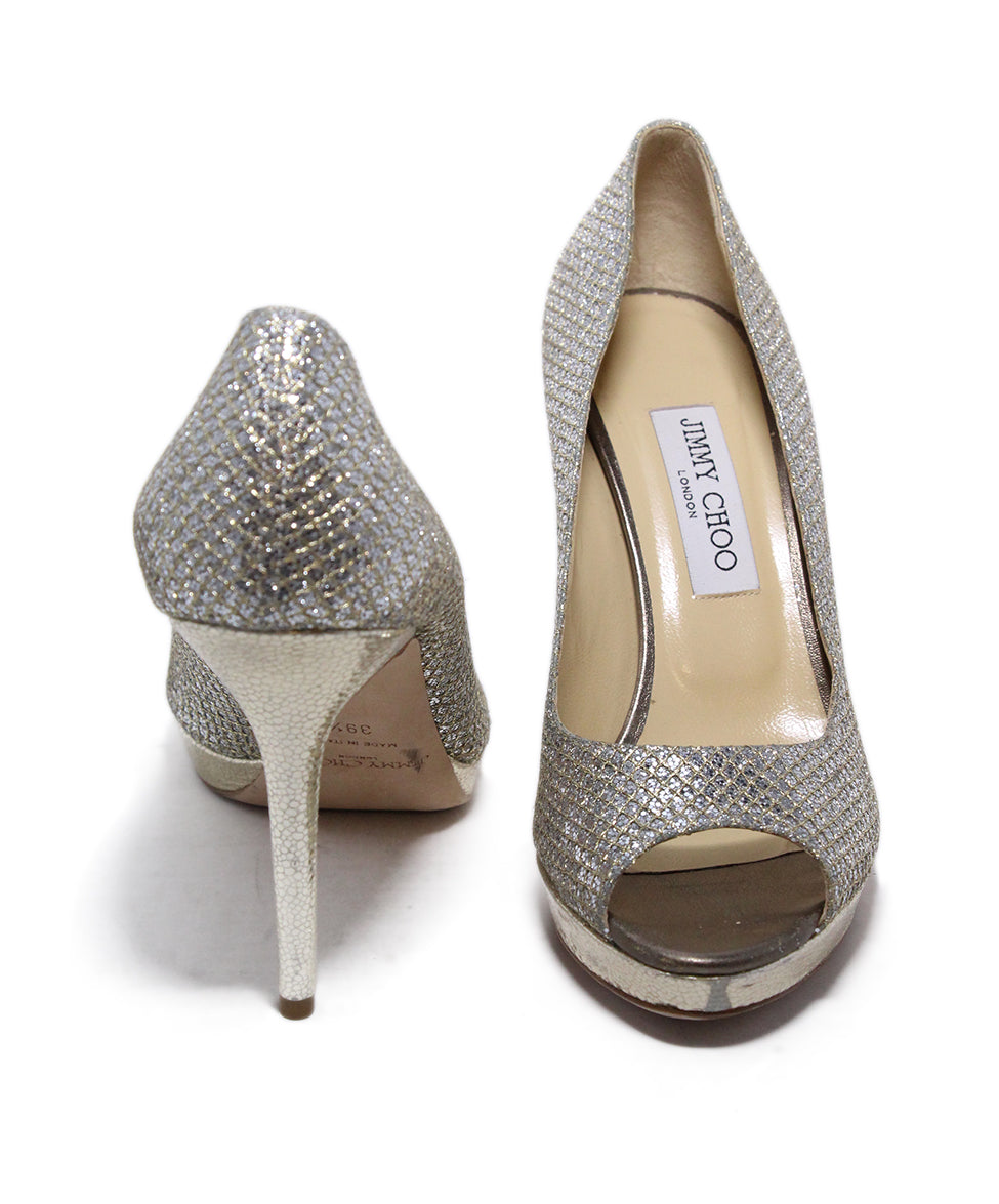 Jimmy choo Metallic silver heels 3
