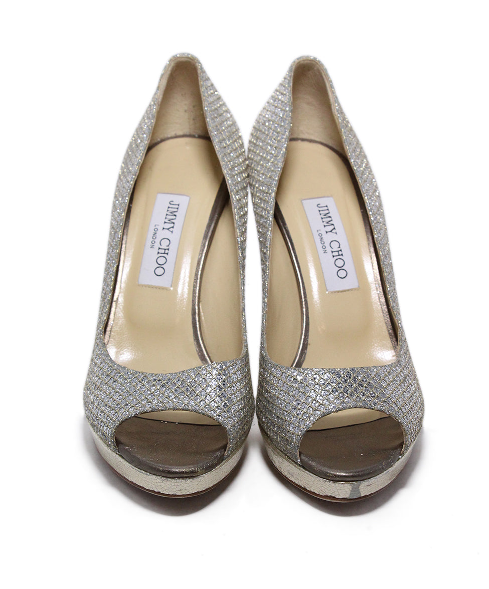 Jimmy choo Metallic silver heels 4