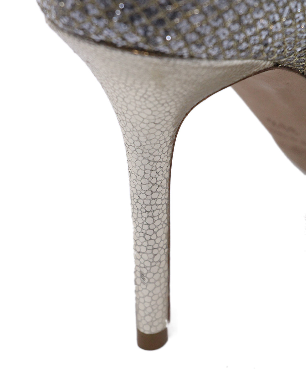 Jimmy choo Metallic silver heels 9